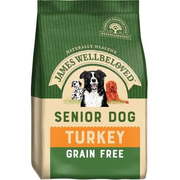 J/w senior turkey grain free